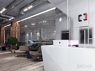 Bronx Couloir, entrée, escaliers industriels