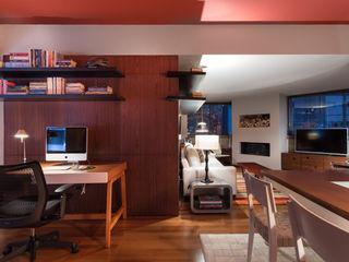 Johnny Thomsen Arquitetura e Design Salas de entretenimiento de estilo moderno Madera Rojo