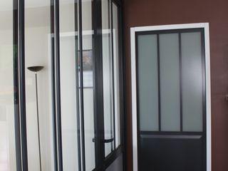 Agence ADI-HOME Koridor & Tangga Gaya Industrial Aluminium/Seng Black