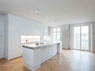 Gisbert Pöppler Architektur Interieur 廚房 White