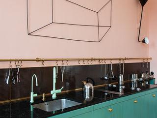 Gisbert Pöppler Architektur Interieur 現代廚房設計點子、靈感&圖片 Multicolored