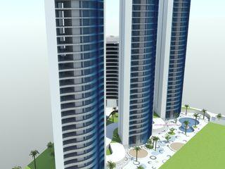 TORRE DYOV STUDIO Arquitectura. Concepto Passivhaus Mediterráneo. 653773806 Casas de estilo moderno Hormigón Azul