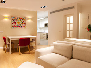 LCB studio Modern Oturma Odası Beyaz
