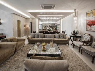 Heloisa Titan Arquitetura Classic style living room Copper/Bronze/Brass Amber/Gold