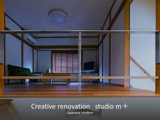 studio m+ by masato fujii Soggiorno in stile asiatico