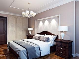 Студия интерьера 'SENSE' Klasik Yatak Odası Kahverengi