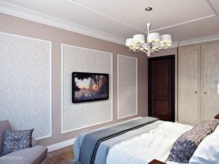 Студия интерьера 'SENSE' Klasik Yatak Odası Ahşap rengi