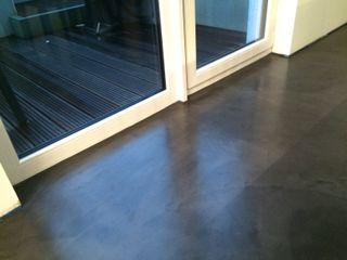 Matthias Koch Malermeister Koridor & Tangga Modern Beton Grey