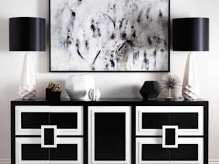 SS16 Style Guide - Refined Monochrome Collection LuxDeco Living roomCupboards & sideboards Black