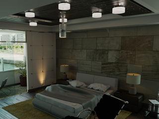 FyA Arquitectos モダンスタイルの寝室 石 ブラウン