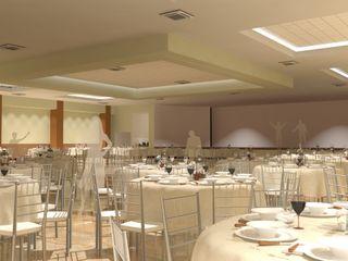 FyA Arquitectos カントリーデザインの リビング