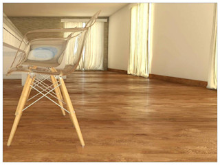 FyA Arquitectos モダンデザインの ダイニング ガラス
