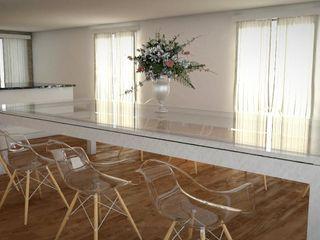 FyA Arquitectos モダンデザインの ダイニング ガラス 透明