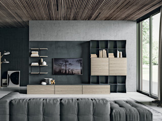 BandIt Design Вітальня Залізо / сталь Сірий