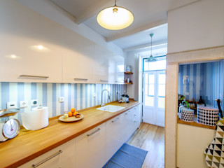 Espaço Mínimo Eclectic style kitchen