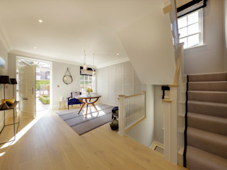 Winchester semi detatched Studio Hooton Modern corridor, hallway & stairs