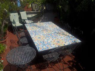 CEAR Ceramiche Azzaro & Romano Srl Mediterranean style balcony, veranda & terrace Ceramic Multicolored