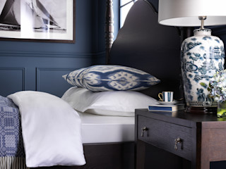 SS16 Style Guide - Coastal Elegance LuxDeco Country style bedroom Blue