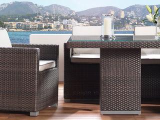 LuxDeco - The Riviera Collection LuxDeco Balconies, verandas & terraces Furniture Rattan/Wicker Brown