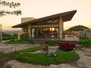 Duo Arquitetura Rumah Gaya Country Kayu Beige