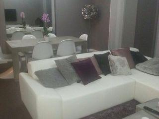 création appartement design CSInterieur Salon moderne Béton Gris
