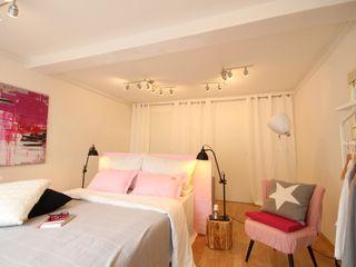Birgit Hahn Home Staging Спальня Рожевий