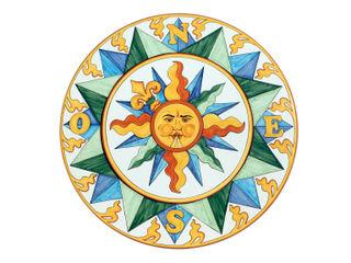 CEAR Ceramiche Azzaro & Romano Srl Mediterranean style pool Stone Multicolored