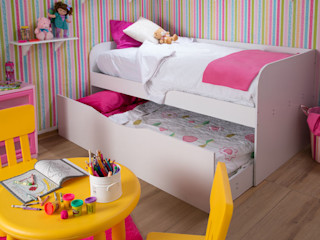 Idea Interior Dormitorios infantiles Camas y cunas Aglomerado Blanco