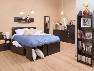 Idea Interior DormitoriosCamas y cabeceras Aglomerado Negro