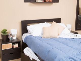 Idea Interior DormitoriosMesitas de noche Aglomerado Negro