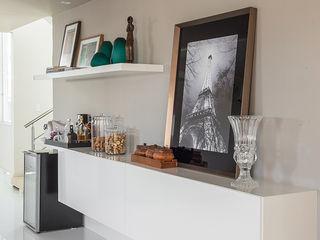 Duo Arquitetura Ruang Keluarga Minimalis MDF White