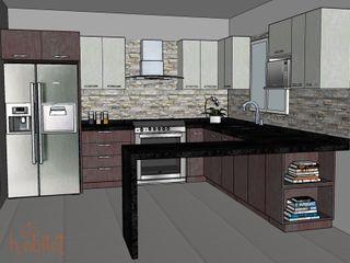 H-abitat Diseño & Interiores Cozinhas modernas Pedra