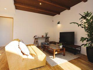 85inc. Living room Wood Wood effect