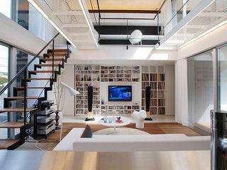 85inc. Living room Iron/Steel White