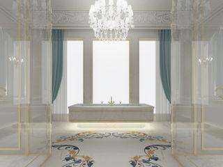A peek on IONS Design gorgeous room interiors IONS DESIGN Minimalist style bathrooms Marble Multicolored