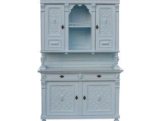 Kredenz Antik & Kunst Nermesan WohnzimmerAufbewahrung Holz Blau