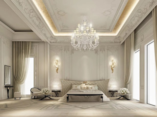 Majestic Bedroom Interior IONS DESIGN Classic style bedroom Marble White