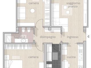 Appartamento_CF Riccardo Cazzaniga Architetto Case in stile minimalista Legno Effetto legno
