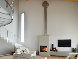 SALM Caminetti Salas de estilo moderno Vidrio