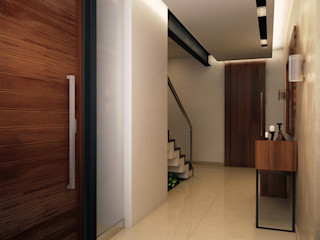 Interiorisarte Modern corridor, hallway & stairs Wood