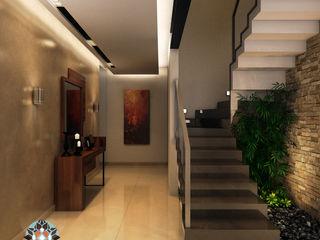 Interiorisarte Modern corridor, hallway & stairs Stone Grey