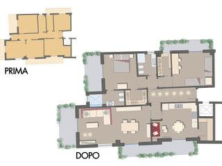 Da ripostiglio a doccia- Ristrutturazione di un appartamento a Pomigliano (Na) archielle Pareti & Pavimenti in stile moderno