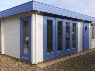 Garden Office Garden Affairs Ltd Ruang Studi/Kantor Modern Kayu Blue