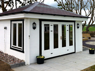 Log Cabin Garden Affairs Ltd Giardino moderno Legno Bianco