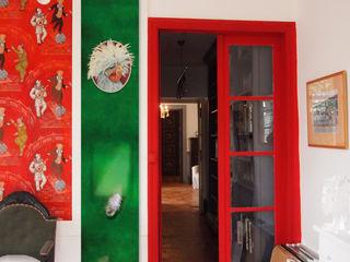 """CRAZY CHICKEN """"JACQUELINE"""" ELISABETH LEROY Collections Murs & SolsDécorations murales Papier Vert"""
