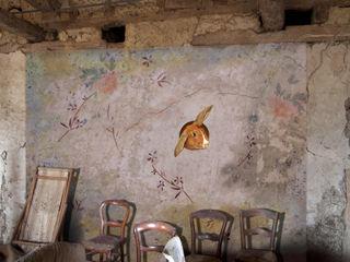 BARNEY DES FLEURS ELISABETH LEROY Collections Murs & SolsPapier peint Papier Multicolore