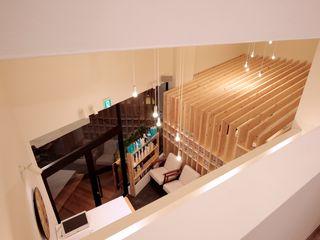 ニュートラル建築設計事務所 Minimalist corridor, hallway & stairs