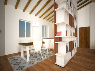 Residenza al Duomo B+P architetti Sala da pranzo moderna