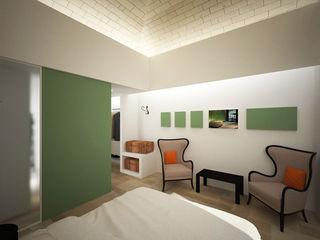 Sgarrone - albergo rurale B+P architetti Camera da letto in stile mediterraneo