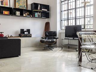 studiodonizelli Industrial style living room Concrete White